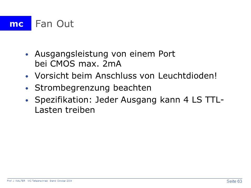 Fan Out Ausgangsleistung von einem Port bei CMOS max. 2mA