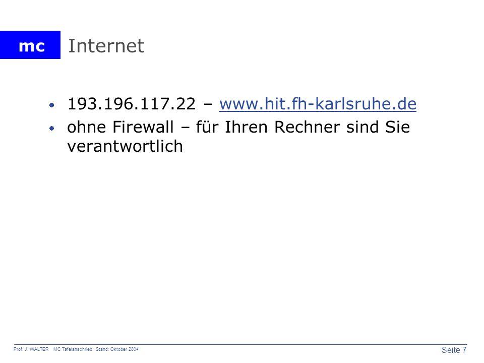 Internet 193.196.117.22 – www.hit.fh-karlsruhe.de