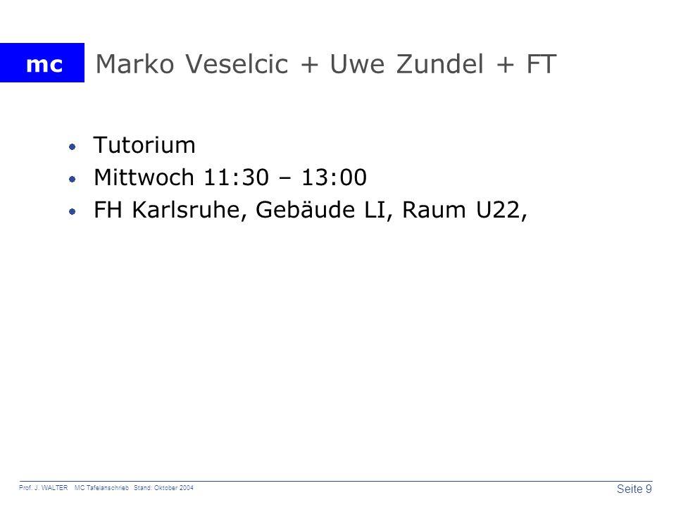 Marko Veselcic + Uwe Zundel + FT