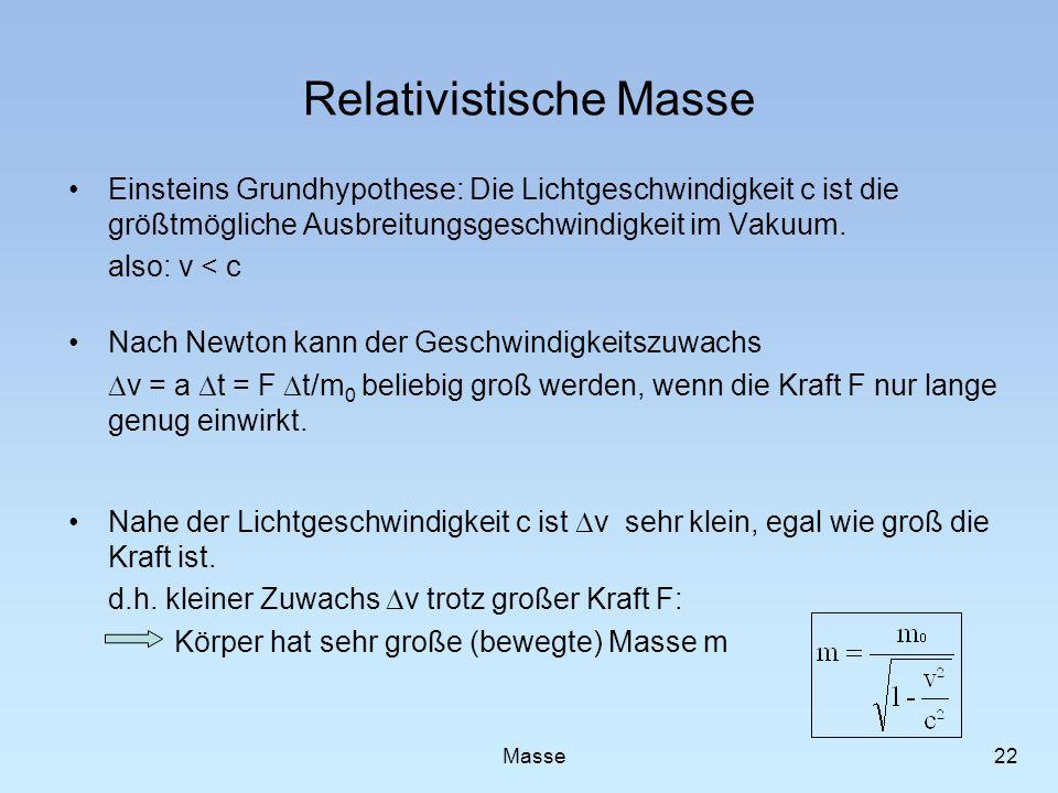 Relativistische Masse