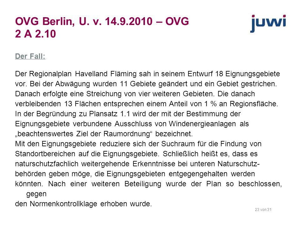 OVG Berlin, U. v. 14.9.2010 – OVG 2 A 2.10
