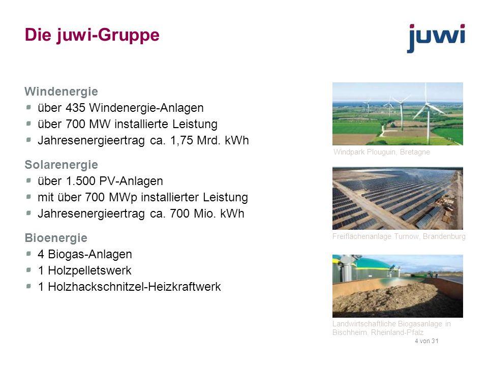 Die juwi-Gruppe Windenergie über 435 Windenergie-Anlagen
