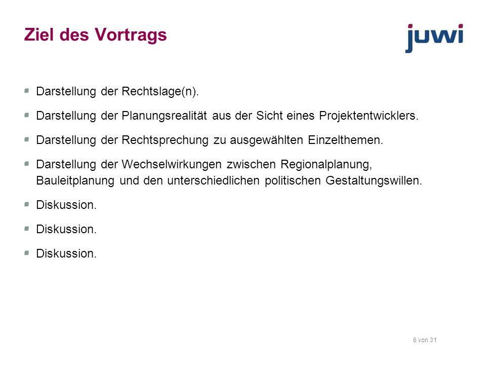 Ziel des Vortrags Darstellung der Rechtslage(n).