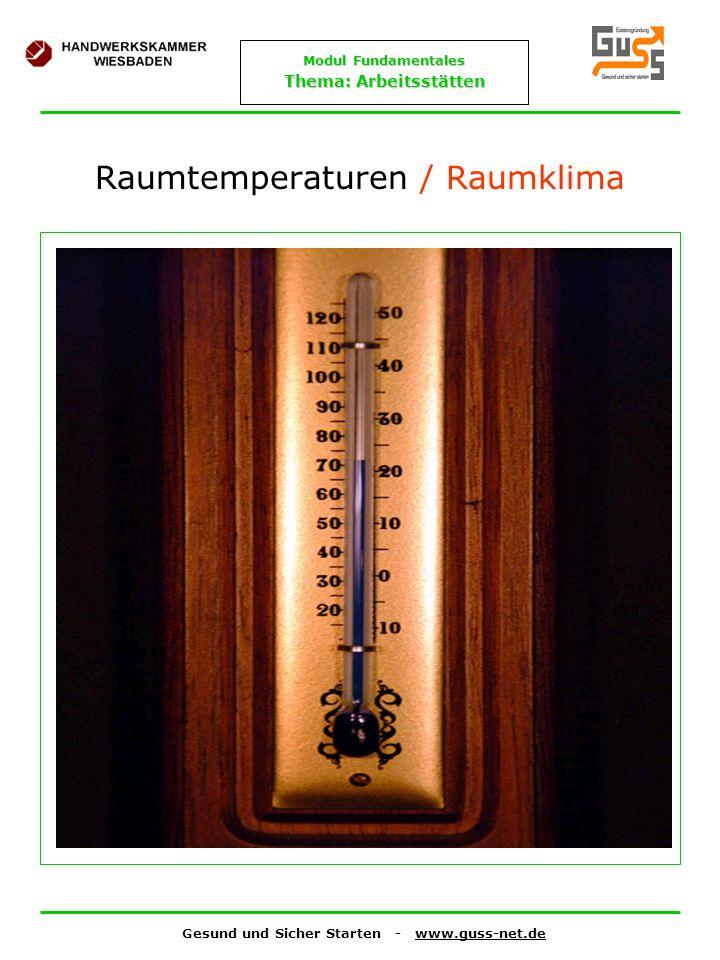Raumtemperaturen / Raumklima