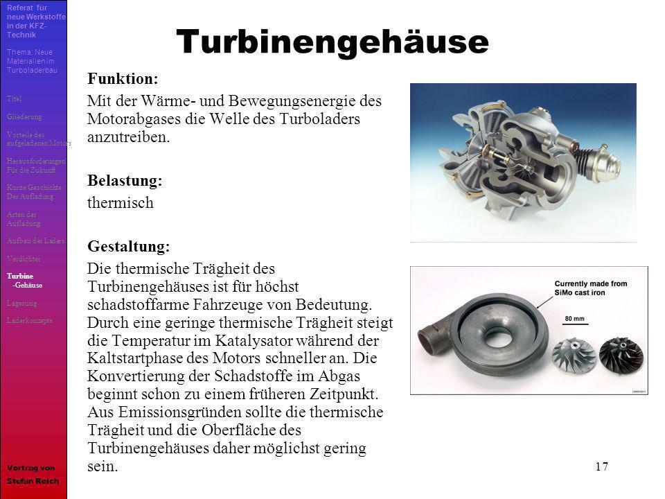 Turbinengehäuse Funktion: