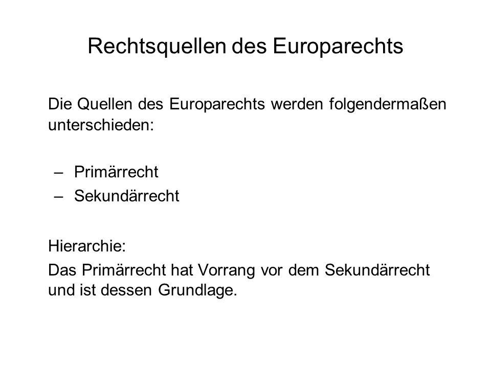 Rechtsquellen des Europarechts