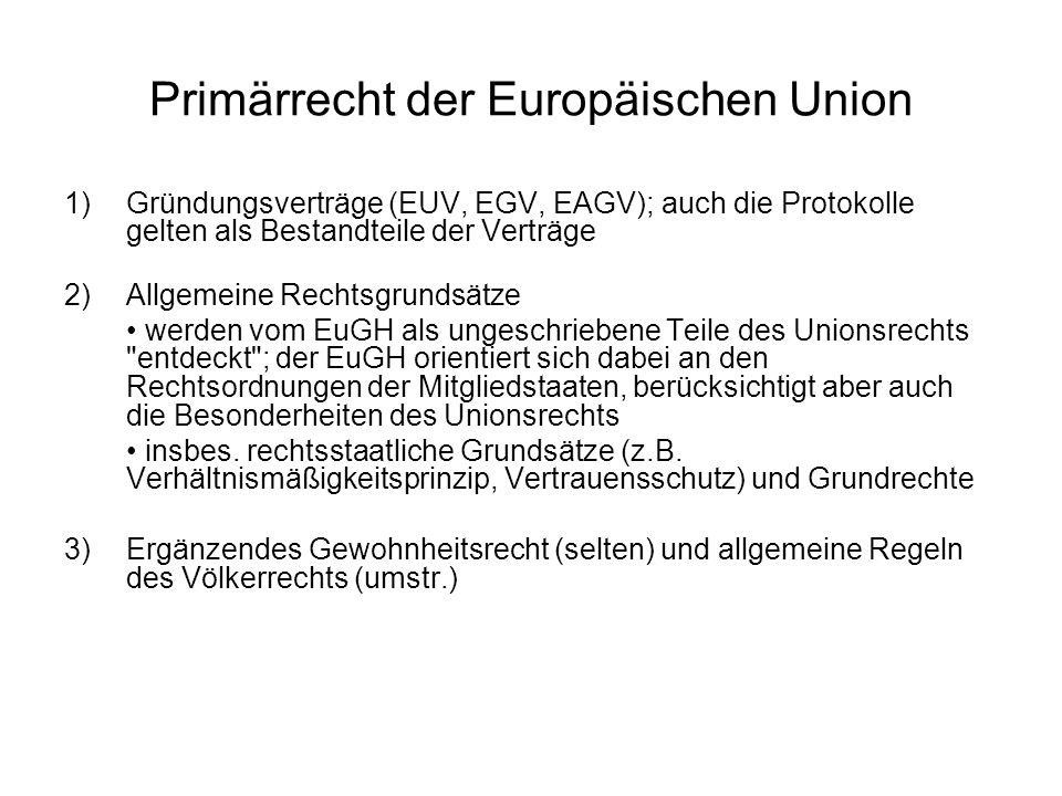 Primärrecht der Europäischen Union