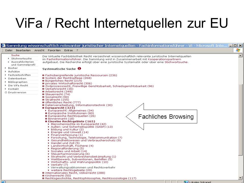 ViFa / Recht Internetquellen zur EU