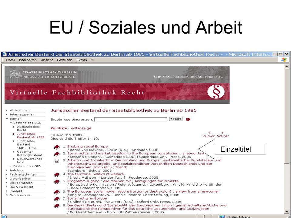 EU / Soziales und Arbeit