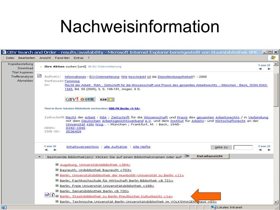 Nachweisinformation