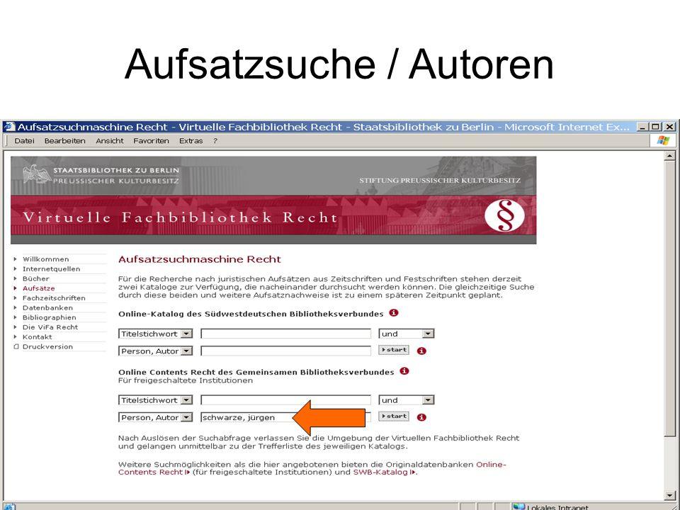 Aufsatzsuche / Autoren