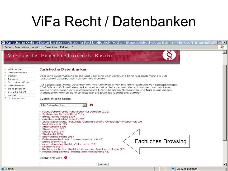 ViFa Recht / Datenbanken