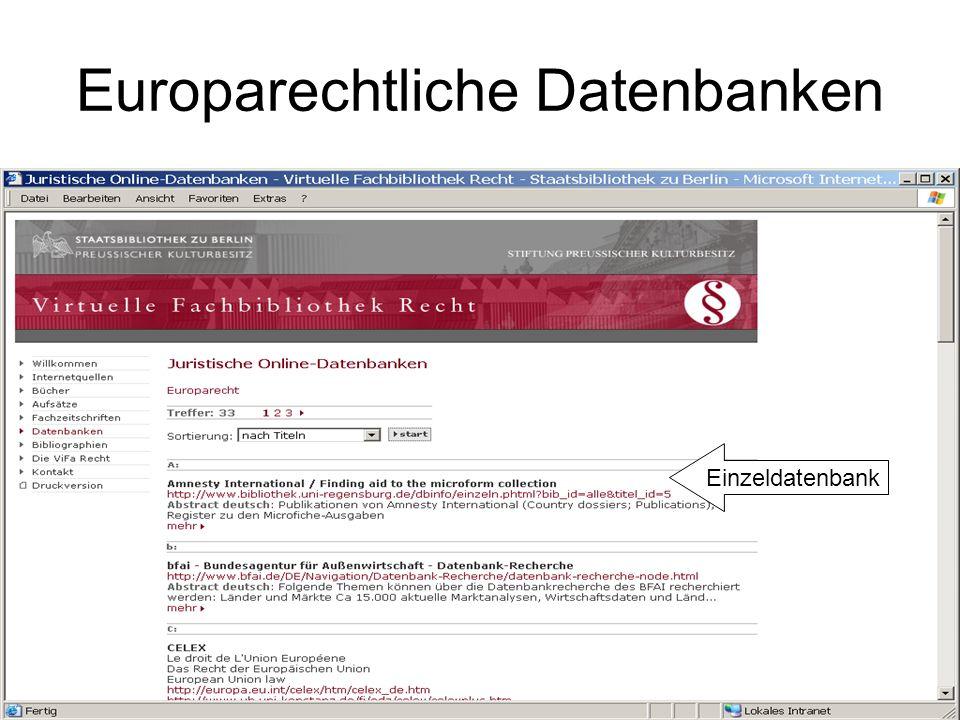 Europarechtliche Datenbanken