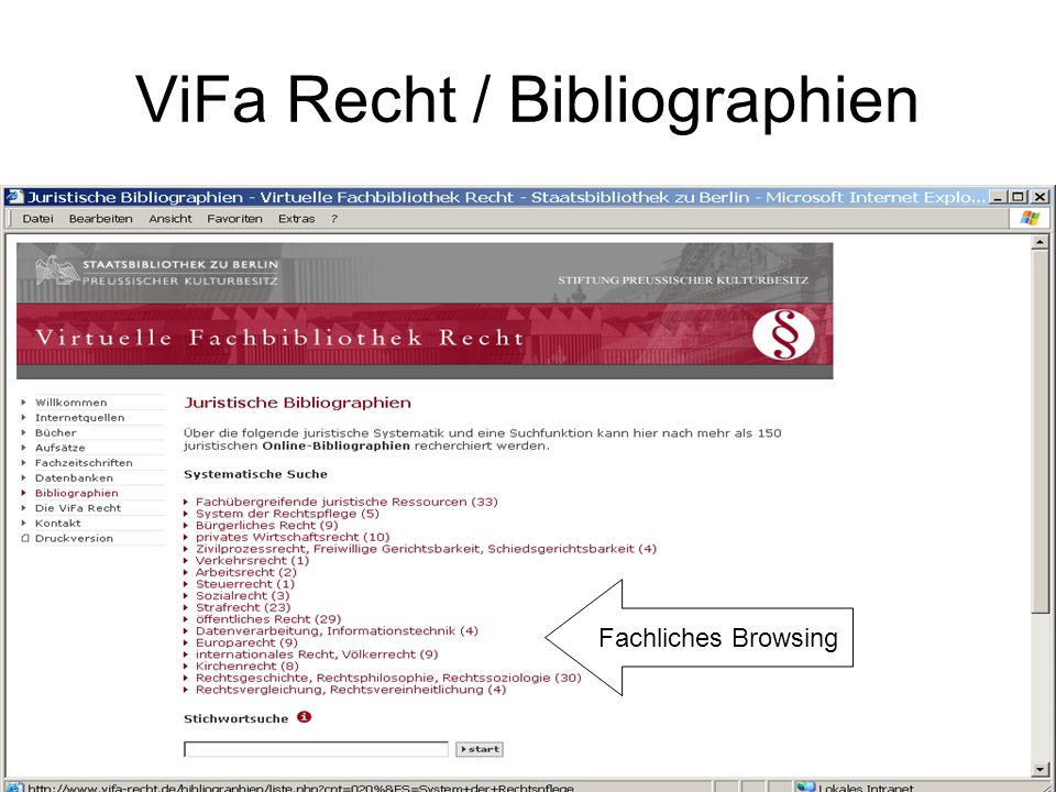 ViFa Recht / Bibliographien