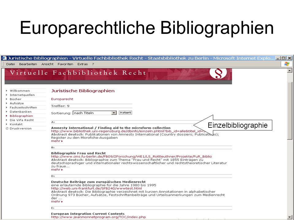 Europarechtliche Bibliographien