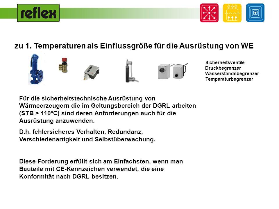 zu 1. Temperaturen als Einflussgröße für die Ausrüstung von WE