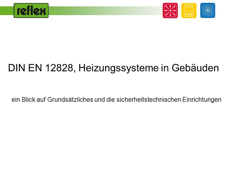 DIN EN 12828, Heizungssysteme in Gebäuden