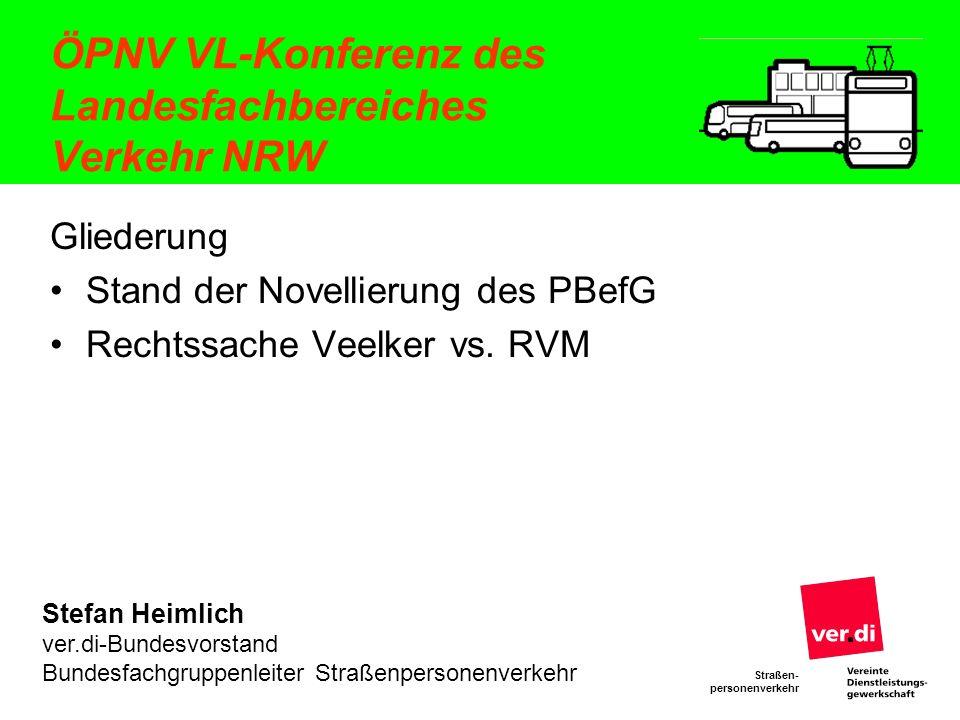 ÖPNV VL-Konferenz des Landesfachbereiches Verkehr NRW