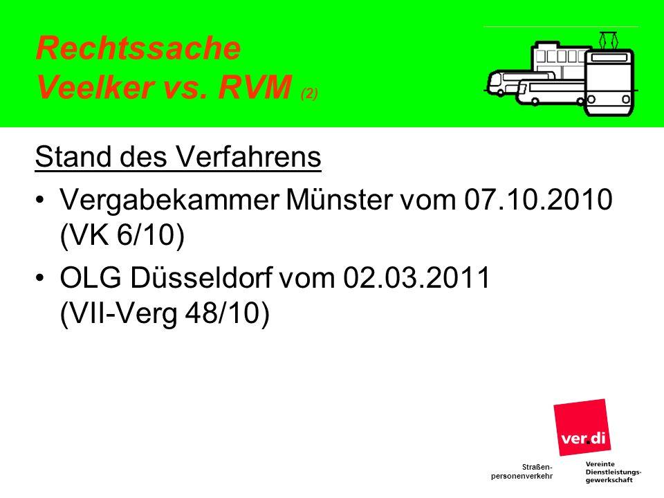 Rechtssache Veelker vs. RVM (2)