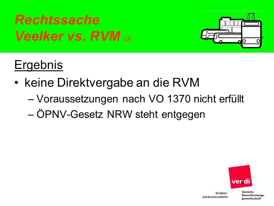 Rechtssache Veelker vs. RVM (3)