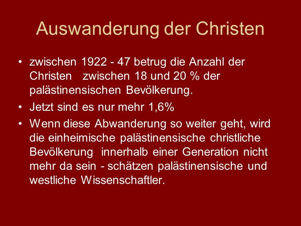 Auswanderung der Christen
