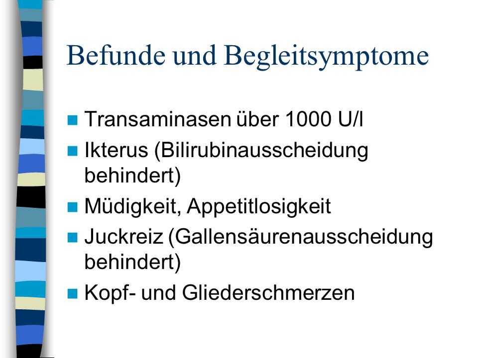 Befunde und Begleitsymptome