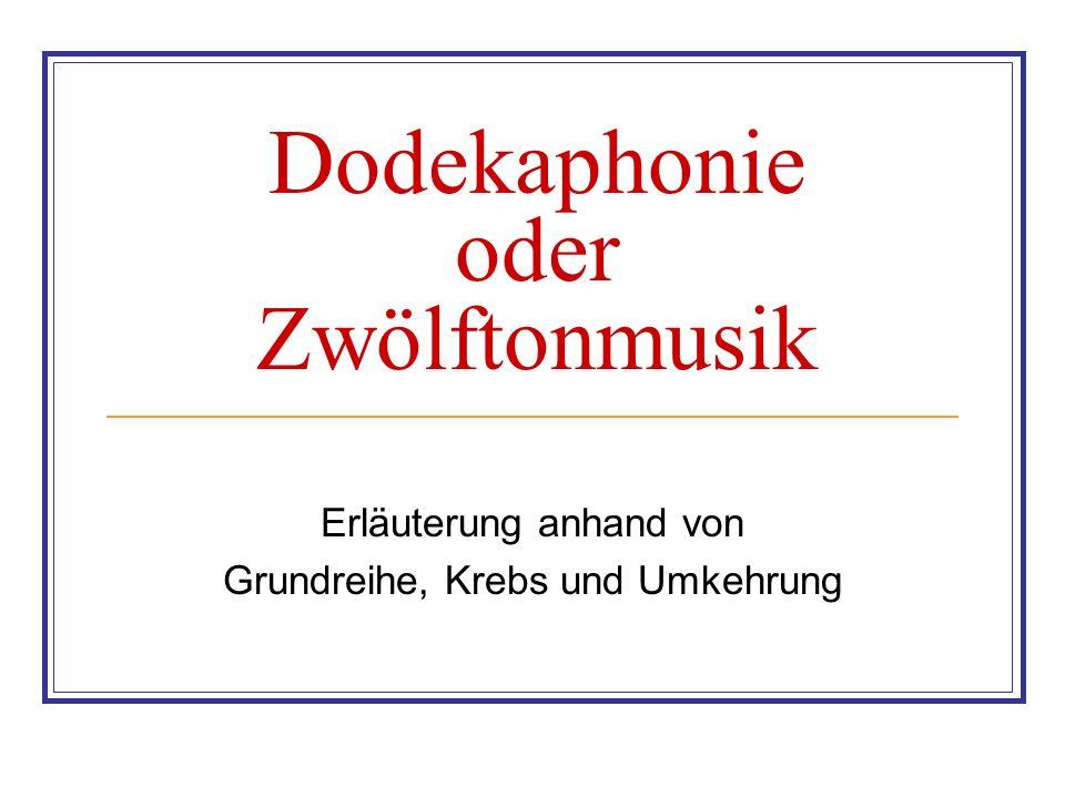 Dodekaphonie oder Zwölftonmusik