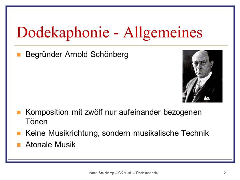 Dodekaphonie - Allgemeines
