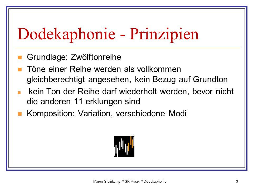 Dodekaphonie - Prinzipien
