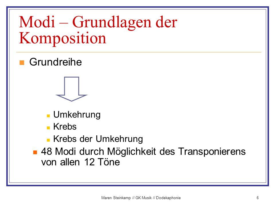 Modi – Grundlagen der Komposition