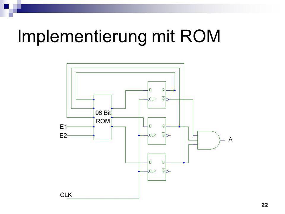 Implementierung mit ROM