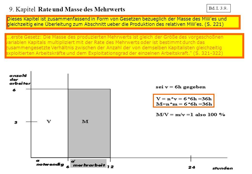 9. Kapitel Rate und Masse des Mehrwerts