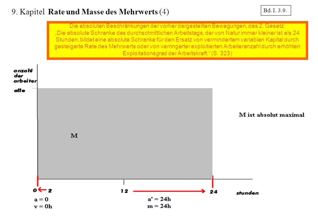 9. Kapitel Rate und Masse des Mehrwerts (4)