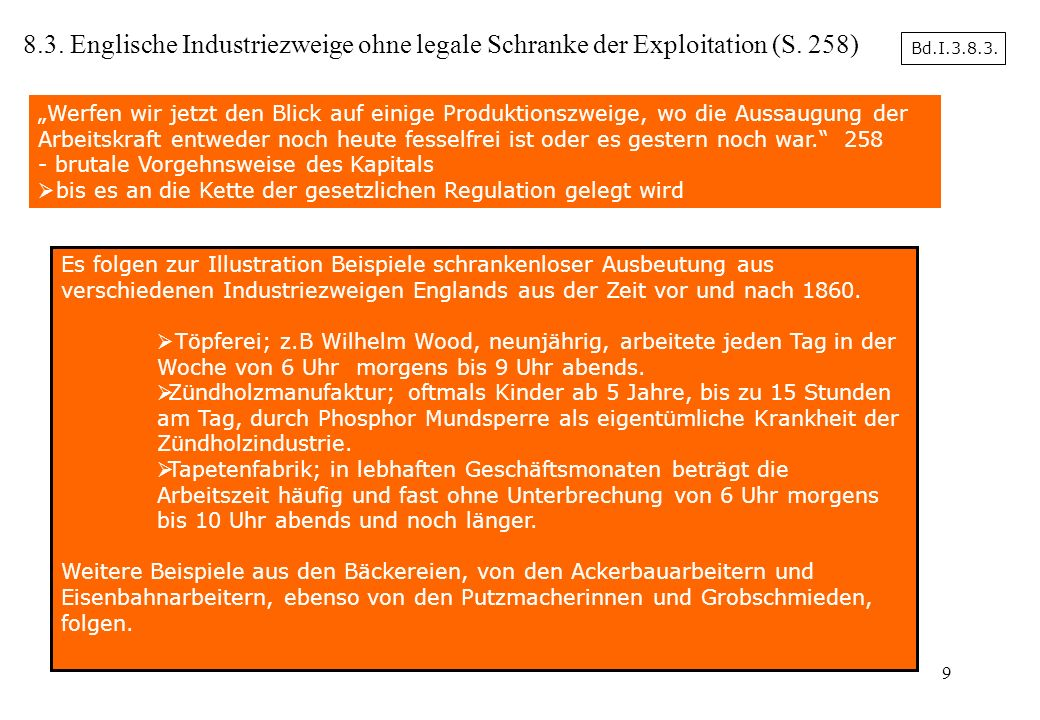 8.3. Englische Industriezweige ohne legale Schranke der Exploitation (S. 258)
