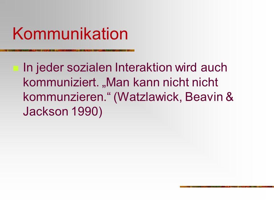 KommunikationIn jeder sozialen Interaktion wird auch kommuniziert.