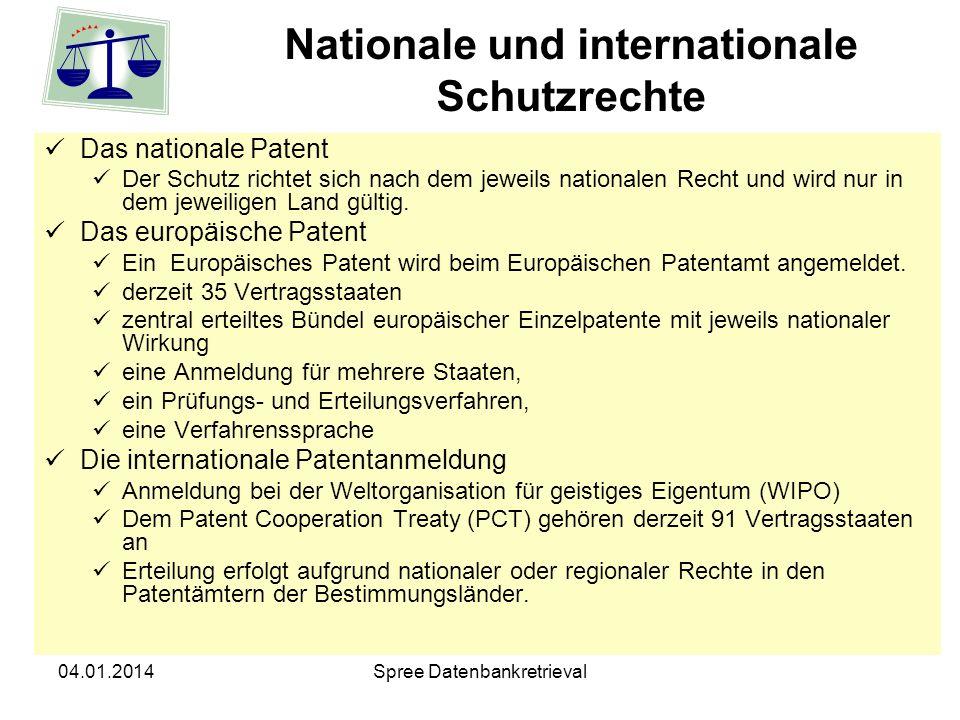 Nationale und internationale Schutzrechte