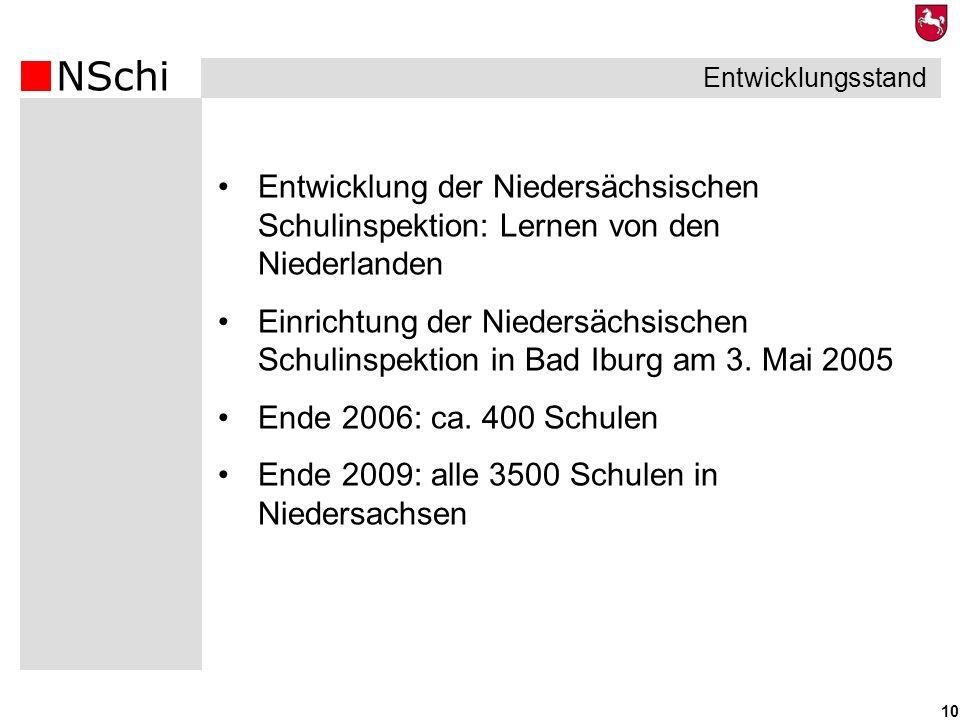 Ende 2009: alle 3500 Schulen in Niedersachsen