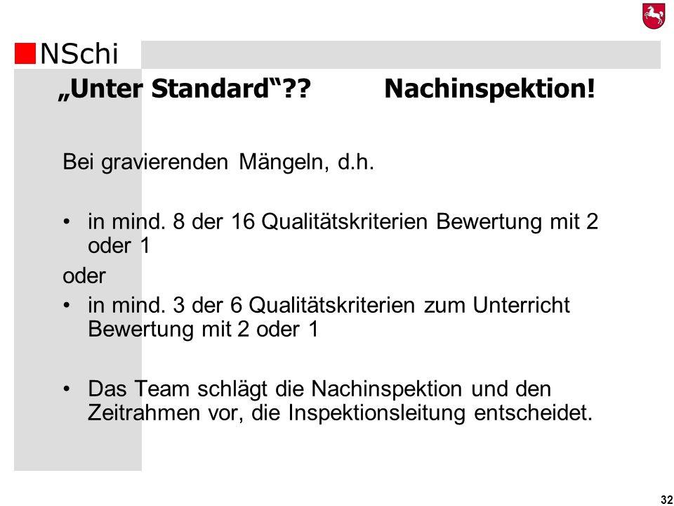 """""""Unter Standard Nachinspektion!"""