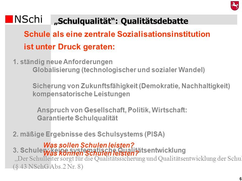 """""""Schulqualität : Qualitätsdebatte"""