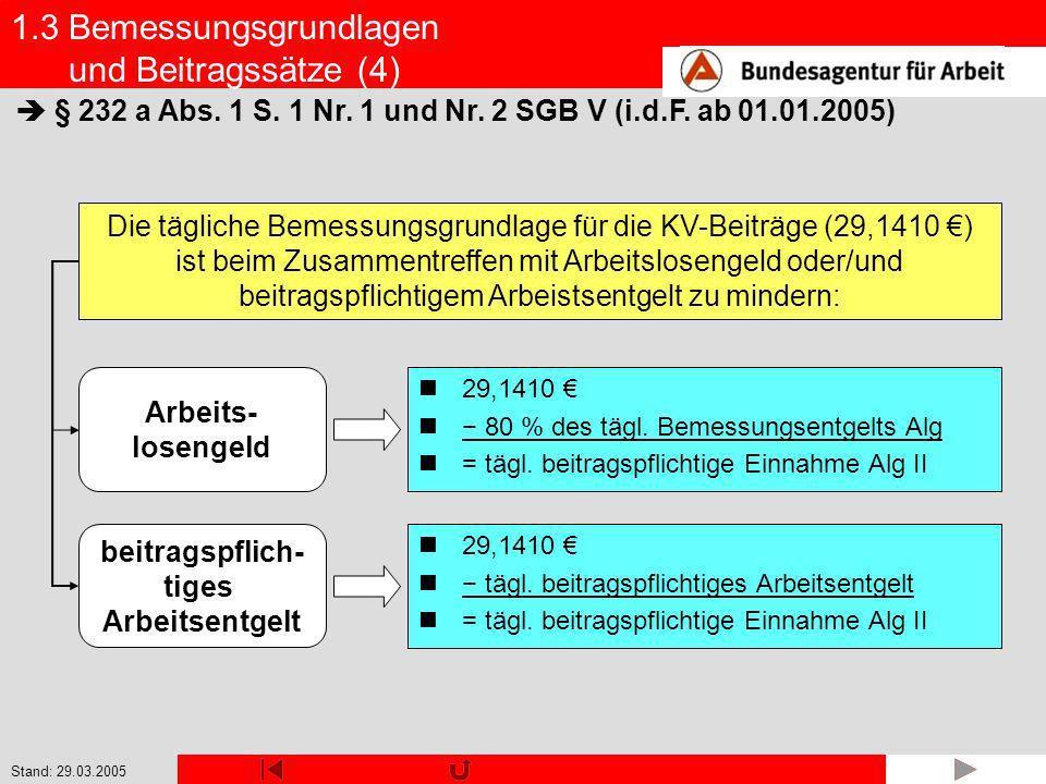 1.3 Bemessungsgrundlagen und Beitragssätze (4)