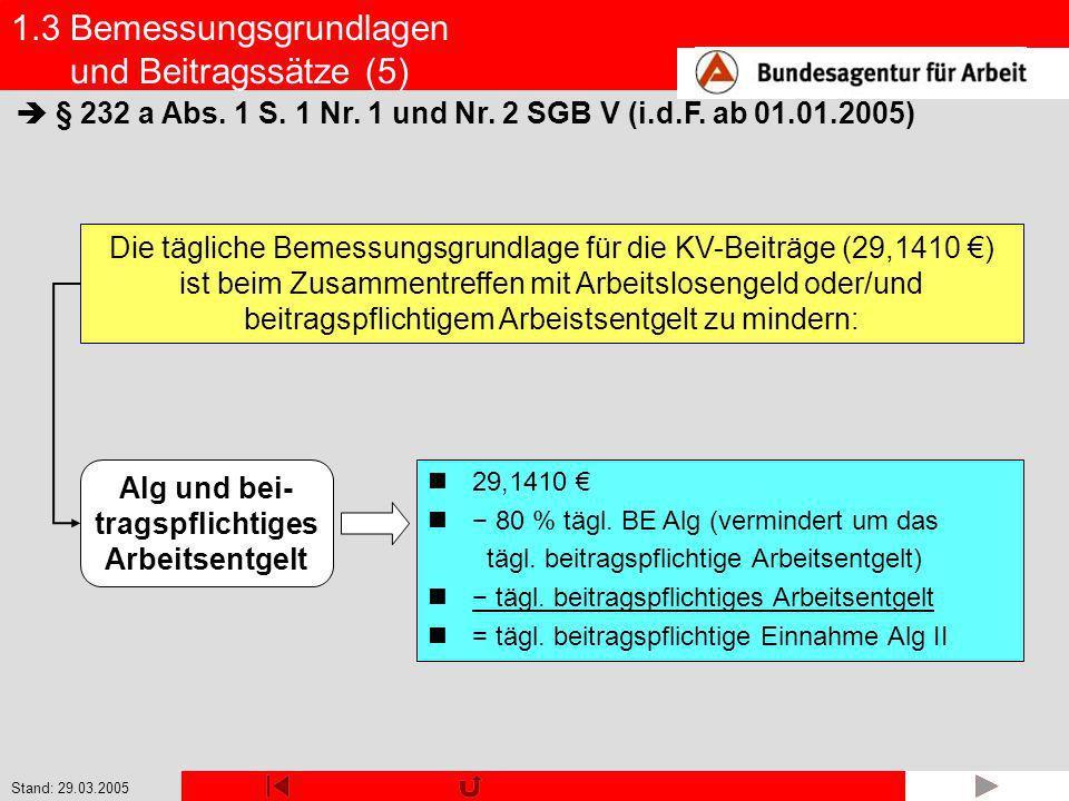 1.3 Bemessungsgrundlagen und Beitragssätze (5)