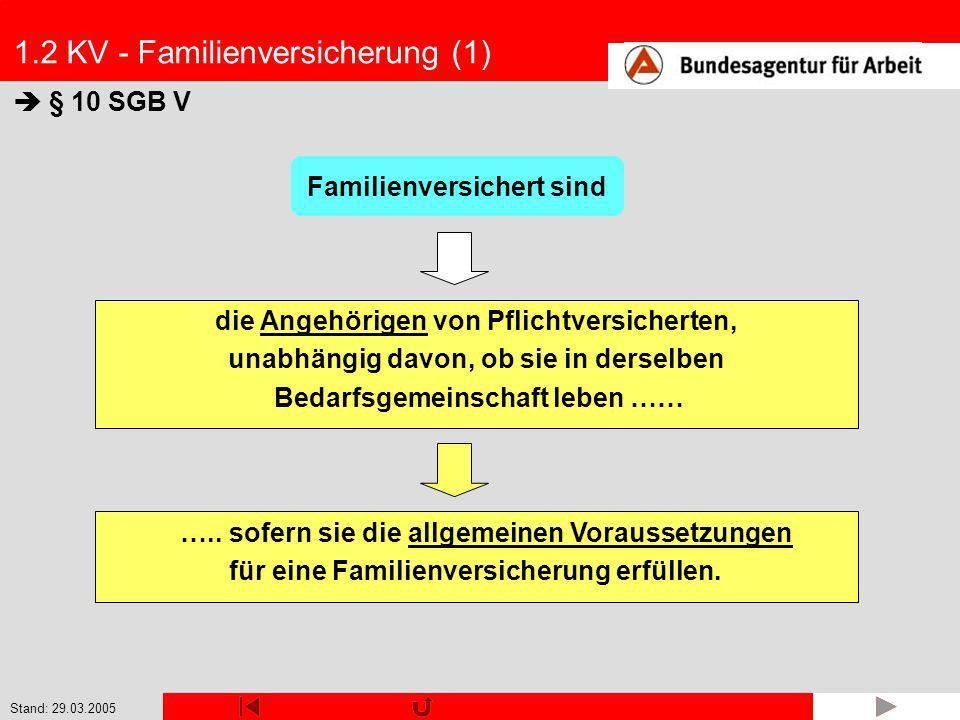 1.2 KV - Familienversicherung (1)