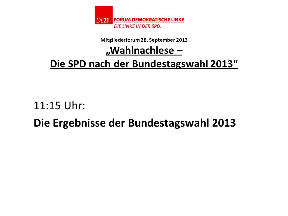 11:15 Uhr: Die Ergebnisse der Bundestagswahl 2013