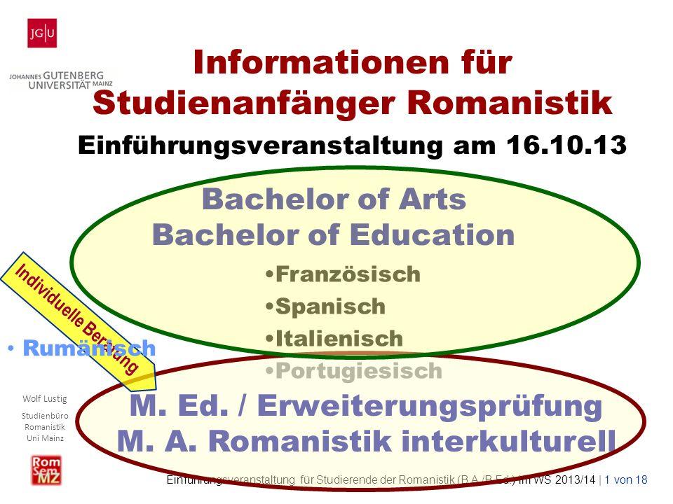 Bachelor of Arts Bachelor of Education