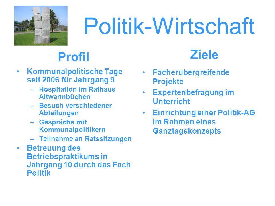 Politik-Wirtschaft Ziele Profil