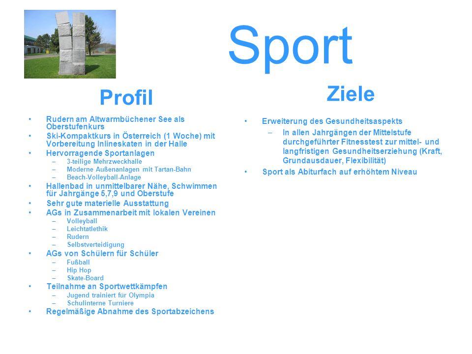 Sport Ziele Profil Rudern am Altwarmbüchener See als Oberstufenkurs