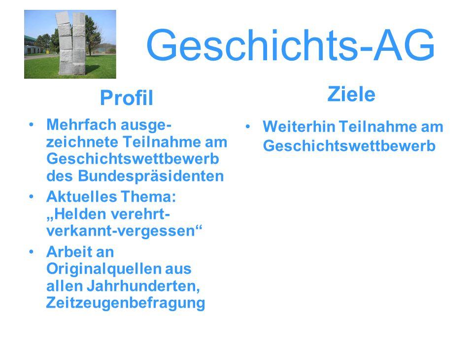 Geschichts-AG Ziele Profil