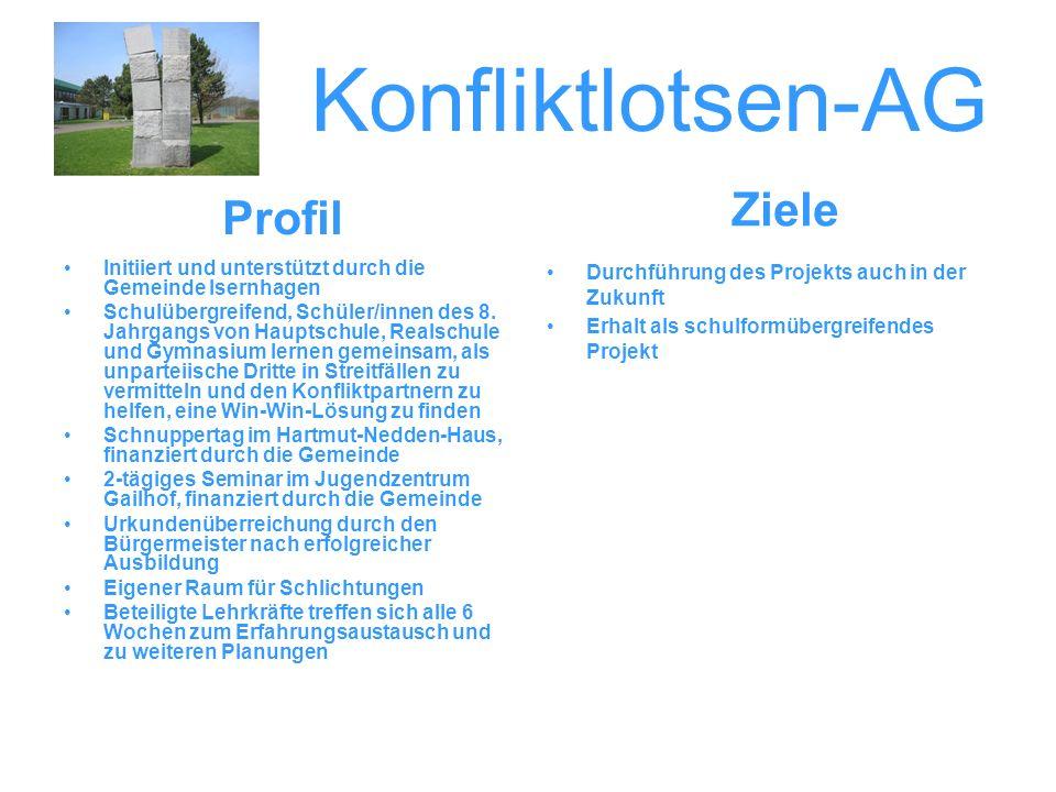 Konfliktlotsen-AG Ziele Profil