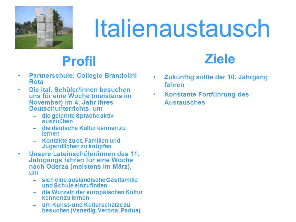 Italienaustausch Ziele Profil Partnerschule: Collegio Brandolini Rota