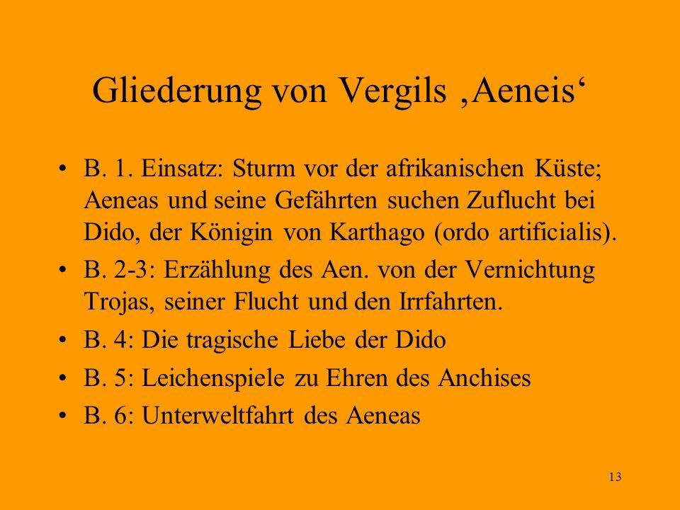 Gliederung von Vergils 'Aeneis'